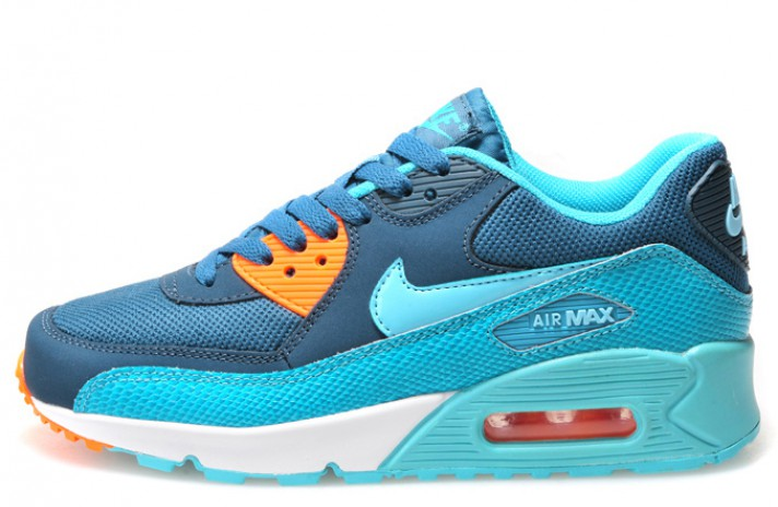 Nike Air Max 90 Essential Space Blue Reptile синие
