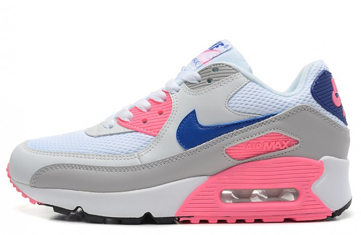 Nike Air Max 90 Essential Grey Pink Blue серые