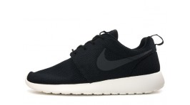 Nike Roshe Run Black Wet Gray White черные