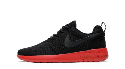 Nike Roshe Run Red Black