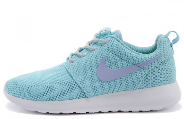 Nike Roshe Run Baby Blue White голубые