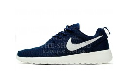 Nike Roshe Run Midnight Blue White темно-синие