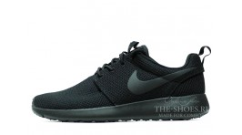 Nike Roshe Run Black Full черные