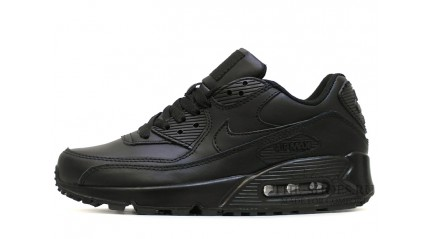 Air Max 90 КРОССОВКИ МУЖСКИЕ<br/> NIKE AIR MAX 90 LEATHER BLACK FULL