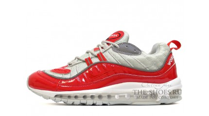 Air Max 97 КРОССОВКИ МУЖСКИЕ<br/> NIKE AIR MAX 97 SUPREME RED GLOSS GRAY
