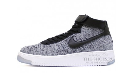Nike Air Force 1 Mid flyknit Cold-Ice Gray