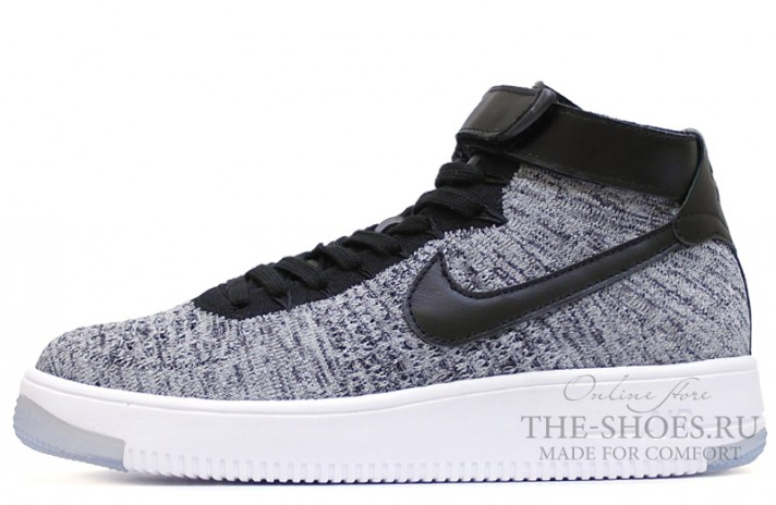 c0edca3d Купить Nike Air Force 1 Mid flyknit Cold-Ice Gray - серые