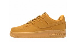 Nike Air Force 1 Low Wheat Flax Yellow желтые