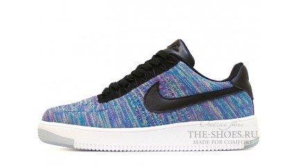 Nike Air Force 1 Low Flyknit Baby Blue Purple