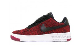 Nike Air Force 1 Low Flyknit university red красные