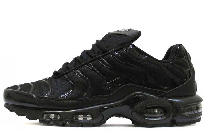 Nike Air Max TN Plus Black stern classic черные, фото 1