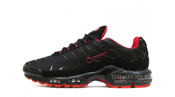 Кроссовки Мужские Nike Air Max TN Plus Black Sole Red