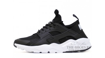 Кроссовки Мужские Nike Air Huarache Ultra BR Black White