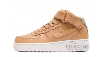 Кроссовки Женские Nike Air Force 1 Mid Vachetta Tan Leather