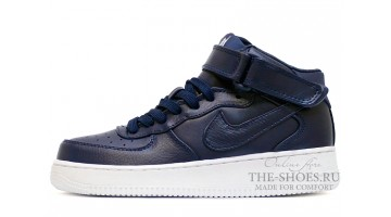 Кроссовки Женские Nike Air Force 1 Mid Concord Blue Leather