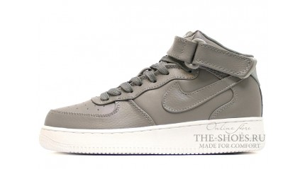 Nike Air Force 1 Mid Light Charcoal Leather