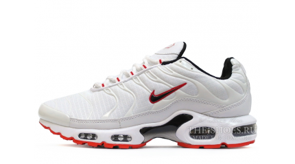 Air Max TN Plus КРОССОВКИ МУЖСКИЕ<br/> NIKE AIR MAX TN PLUS WHITE SOLE RED