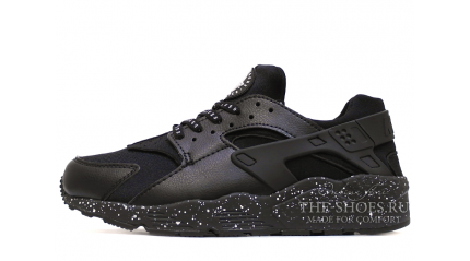 Huarache КРОССОВКИ МУЖСКИЕ<br/> NIKE AIR HUARACHE BLACK LEATHER OREO GRAY