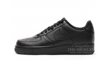 Nike Air Force 1 Low Total Black Leather