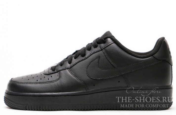 Кроссовки Nike Air Force 1 Low Total Black Leather
