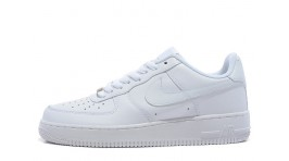 Nike Air Force 1 Low Pure White Leather белые кожаные