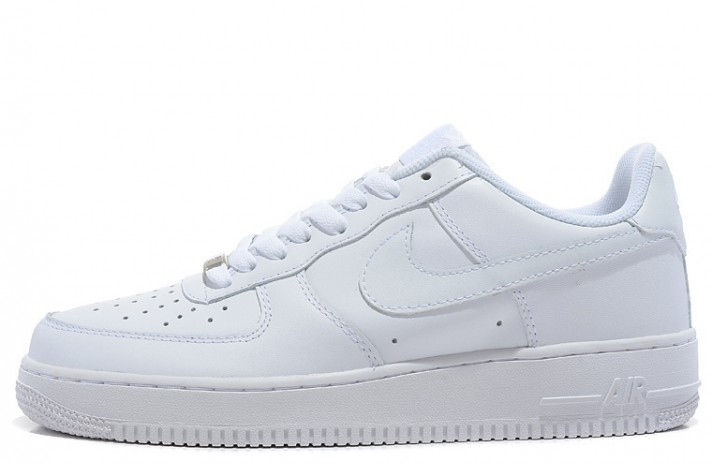 Nike Air Force 1 Low Pure White Leather белые кожаные, фото 1