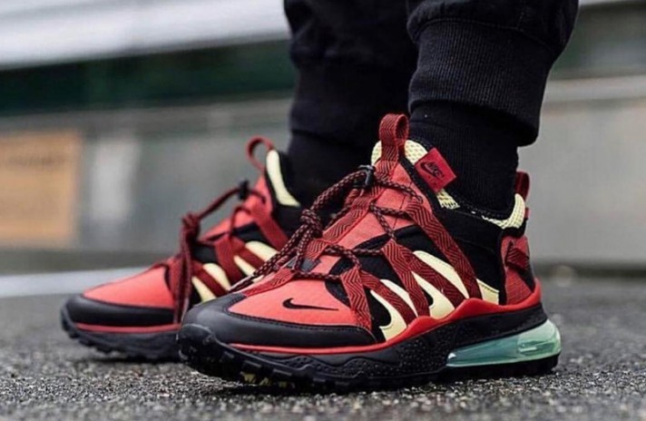 Nike Air Max 270 Bowfin University Red Light Citron красные, фото 4