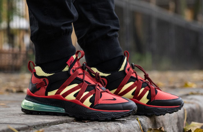Nike Air Max 270 Bowfin University Red Light Citron красные, фото 5