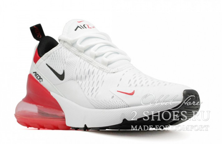 Nike Air Max 270 White Red белые, фото 2