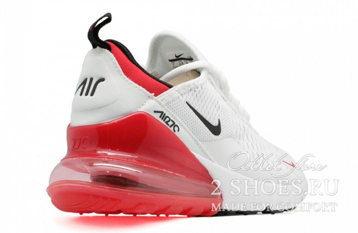 Nike Air Max 270 White Red белые, фото 3