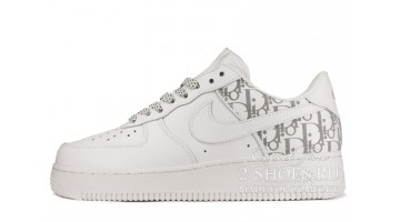 Кроссовки женские Nike Air Force 1 Low White Dior