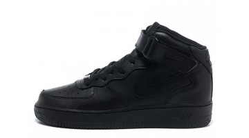 Кроссовки Мужские Nike Air Force 1 Mid Winter Black Leather