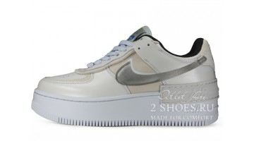 Кроссовки Женские Nike Air Force 1 Shadow Platinum Blue Smoke