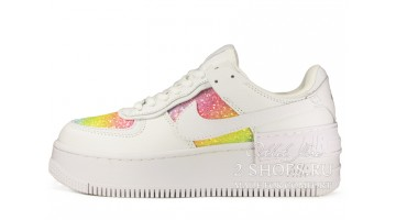 Кроссовки Женские Nike Air Force 1 Shadow White Rainbow Tinsel