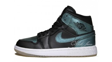 Кроссовки женские Nike Air Jordan 1 Mid Iridescent Black