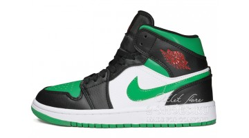 Кроссовки женские Nike Air Jordan 1 Mid Pine Green Toe