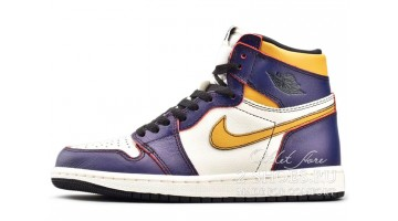 Кроссовки мужские Nike Air Jordan 1 Defiant Lakers to Chicago