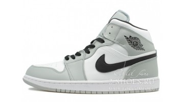 Кроссовки женские Nike Air Jordan 1 Mid Light Smoke Grey