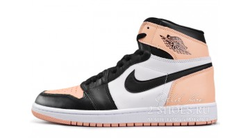 Кроссовки женские Nike Air Jordan 1 Mid Rust Pink White Black