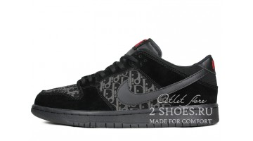 Кроссовки Мужские Nike Dunk SB Low Dior Triple Black