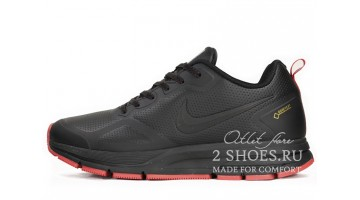 Кроссовки Мужские Nike Pegasus 26x Gore-Tex Black Red Leather