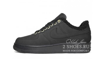 Кроссовки Мужские Nike Air Force 1 Winter Black Nubuck