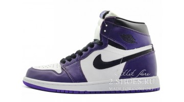 Кроссовки женские Nike Air Jordan 1 High White Court Purple