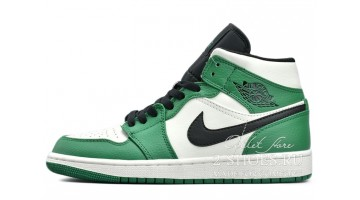 Кроссовки мужские Nike Air Jordan 1 Mid Celtics Pine Green