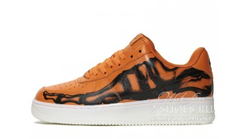 Кроссовки Мужские Nike Air Force Low Orange Skeleton