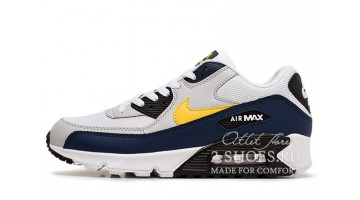 Кроссовки Мужские Nike Air Max 90 Essential Michigan White Blue