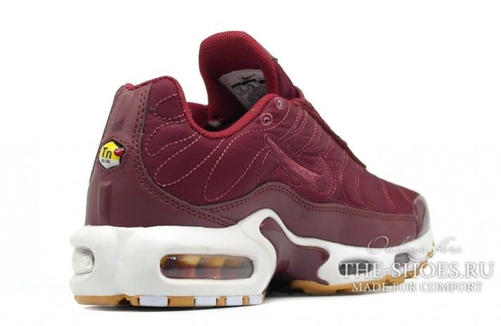 Nike Air Max TN Plus Satin Pack Night Maroon Noble Red бордовые, фото 3