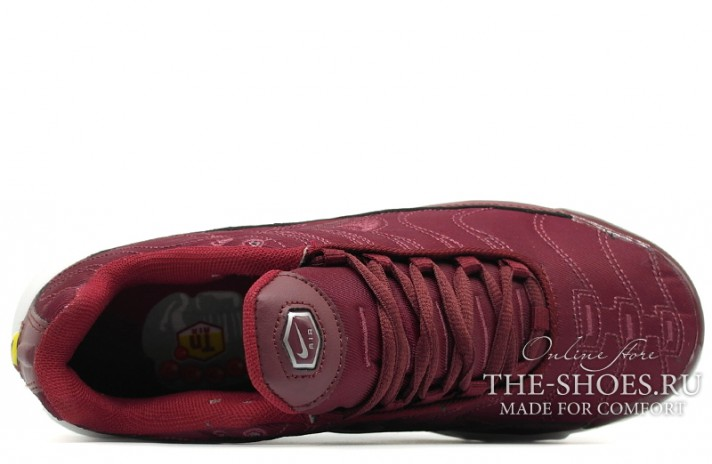 Nike Air Max TN Plus Satin Pack Night Maroon Noble Red бордовые, фото 4