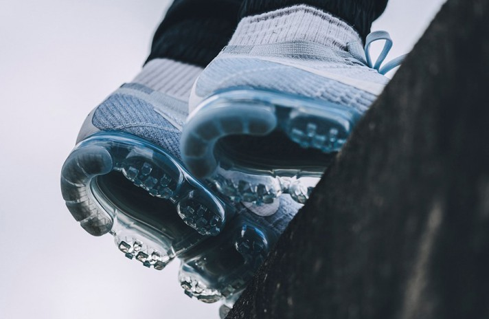 Nike Air VaporMax Flyknit Pure White Platinum белые, фото 9