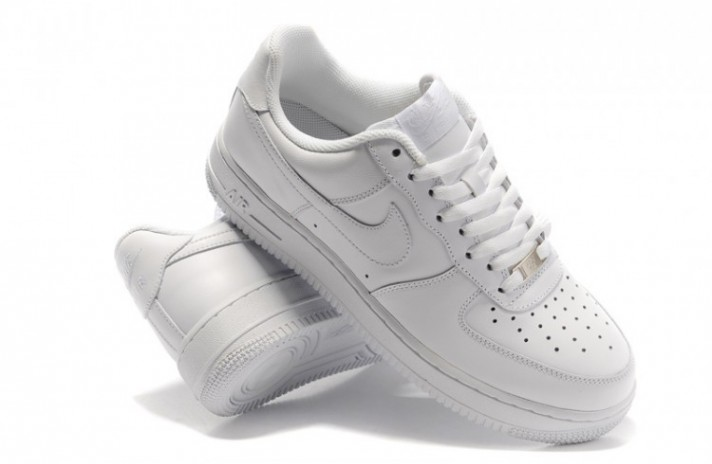 Nike Air Force 1 Low Pure White Leather белые кожаные, фото 2
